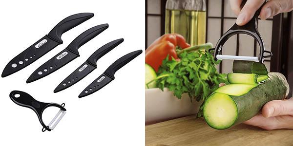 4 cuchillos fundas plastico pelador relación calidad-precio brutal