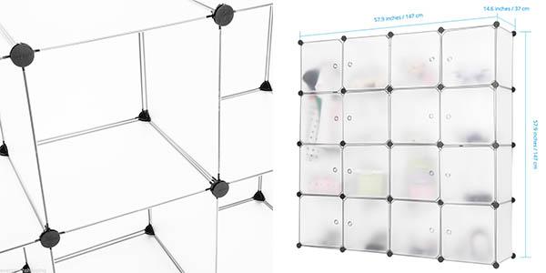 armario plástico cubos puertas excelente relación calidad-precio