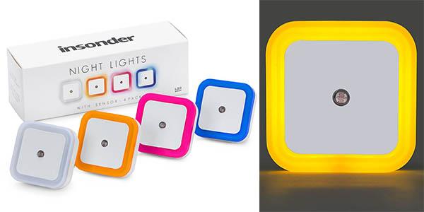 enchufes luz LED sensor ideal habitaciones infantiles precio brutal
