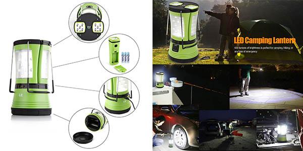 farolillo acampada LED resistente agua funcional