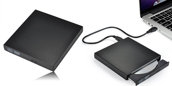 Lector DVD y grabadora de CD externa y portátil