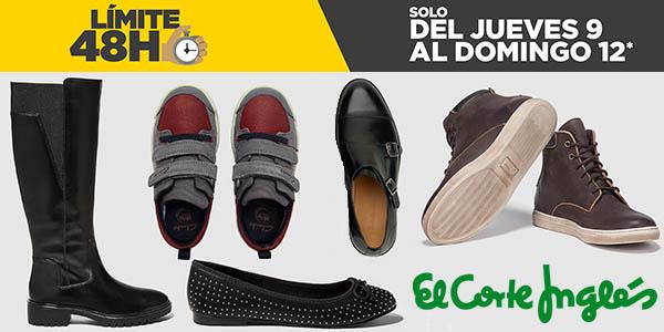 límite 48 horas El Corte Inglés zapatos febrero 2017