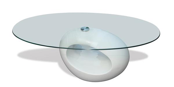Mesa de café redonda blanca barata