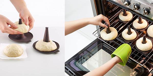 moldes preparar panecillos caseros bagel Lékué
