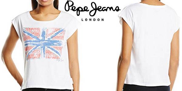 Pepe Jeans Miranda camiseta básica mujer barata