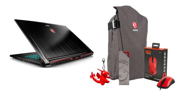 Portátil gaming MSI STealth Pro GS73VR con pack de regalo en oferta en Amazon
