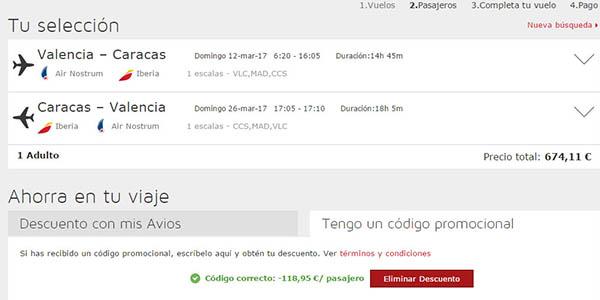 promoción vuelos España Iberia descuento