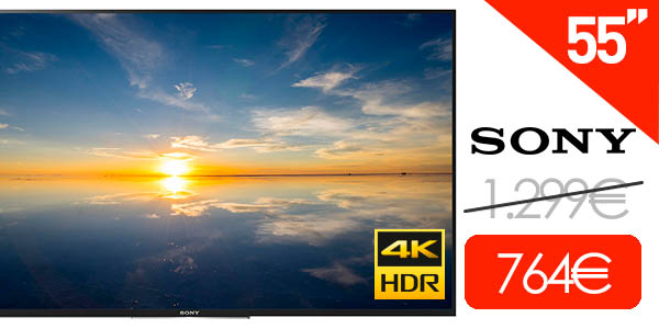 Smart TV Sony KD-55XD8005 de 55'' UHD 4K HDR
