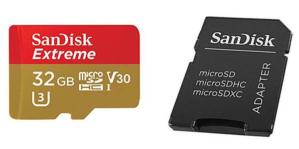 Tarjeta de memoria microSDHC SanDisk Extreme 32 GB con adaptador (clase 10)