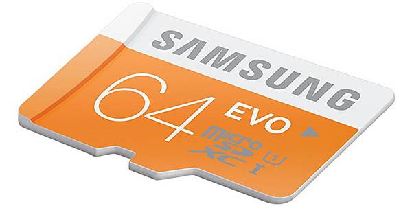 MicroSDXC Samsung Evo de 64 GB barata