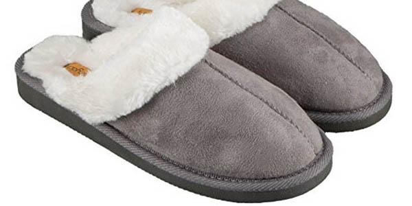 zapatillas estar por casa mujer borrego cómodas precio brutal