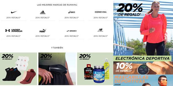 20% de regalo en Running primeras marcas El Corte Inglés
