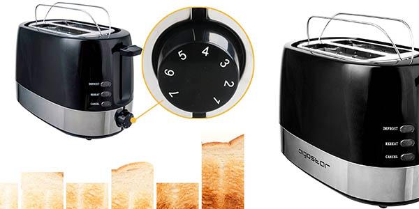 aigostar tostadora diseño compacto negro precio brutal