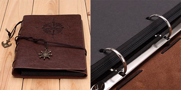 álbum fotos diseño vintage tapas cuero 120 fotos