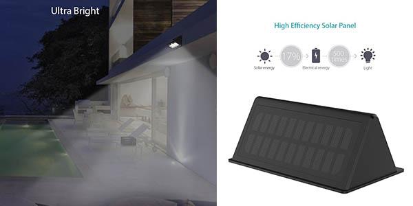 aplique impermeable Dodocool LED panel solar