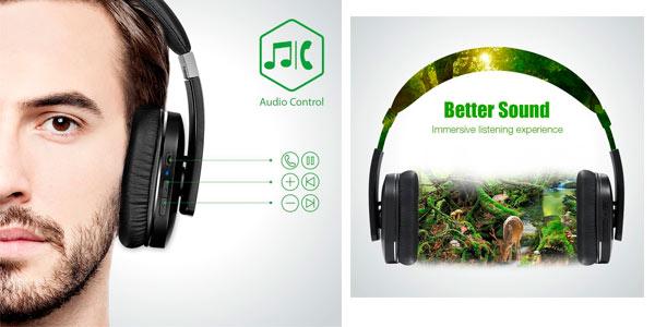 Auriculares Bluetooth de gama alta AudioMAx HB-8A a buen precio en Amazon
