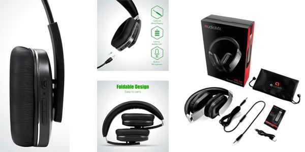 Auriculares de diadema plegables con conexión Bluetooth AudioMax HB-8A