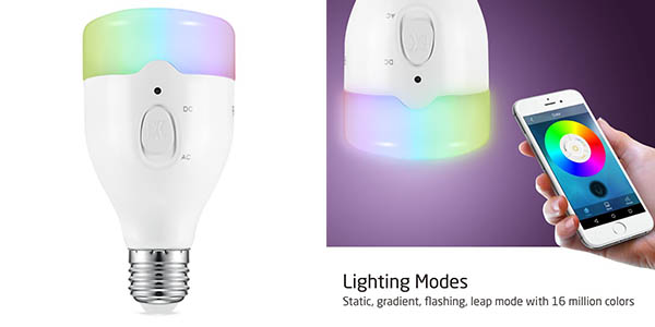 avantek bombilla LED inteligente App WiFi oferta Flash Amazon