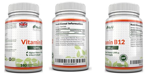 Vitamina B 12 metilcobalamina de Nu U Nutrition barata en Amazon