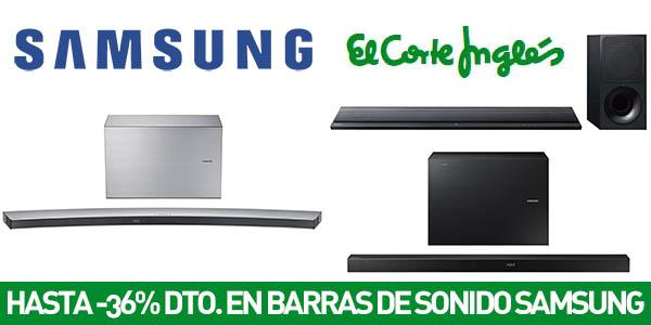 Barras de sonido Samsung con descuento