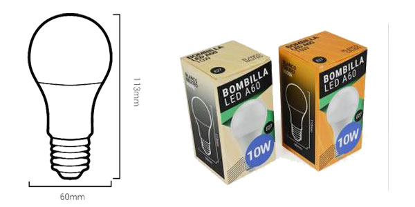 Oferta tienda Barcelona LED Bombillas LED Ecológicas E27 A60 10W