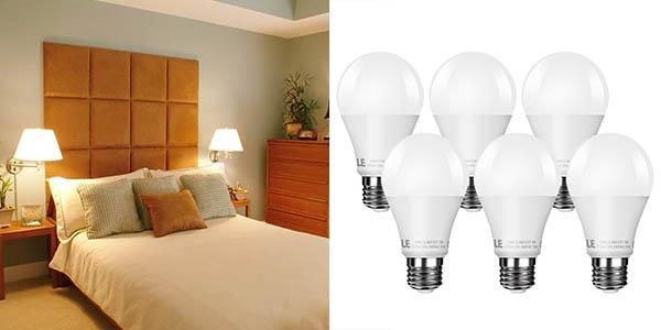 bombillas LED 6 unidades 9W precio brutal