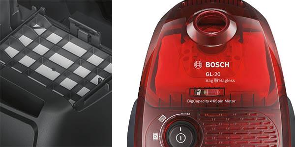 bosch BGL2UB1108 GL-20 Bag Bagless aspiradora sin bolsa compacta