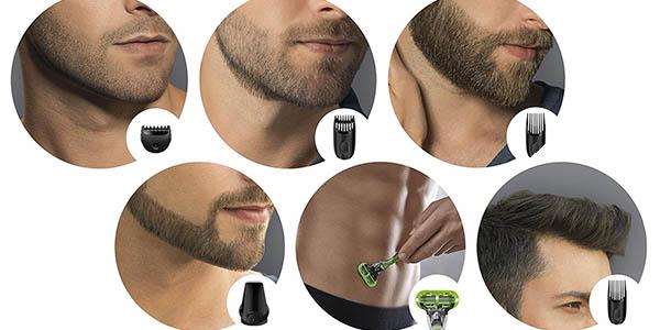 braun conjunto afeitado 7 funciones máquina cuchilla cabezales