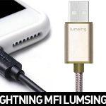Cables Lightning MFi Lumsing de 1m de plástico o nylon