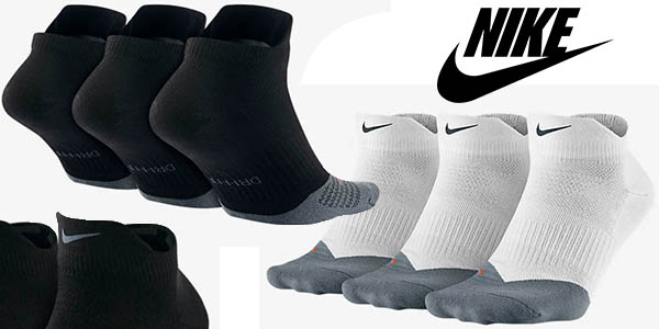 calcetines Nike Dri-FIT Lightweight Low Quarter tobilleros cupón descuento extra20