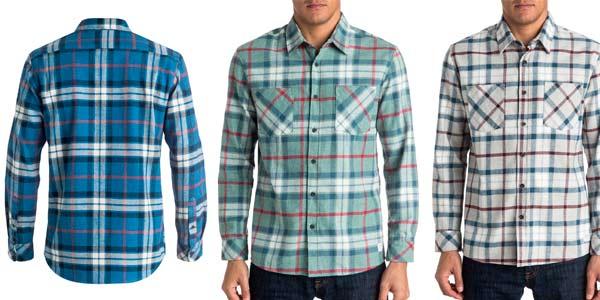 Camisas Quiksilver Fitzthrower Flanner de cuadros para hombre rebajadas en eBay