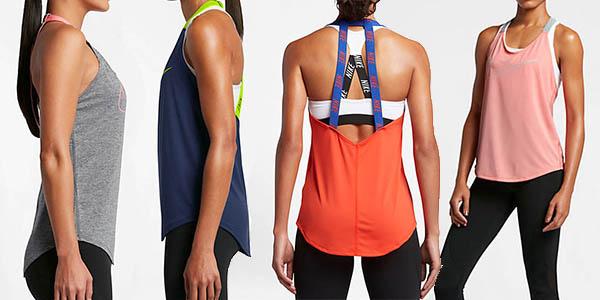 camiseta tirantes Nike Dry mujer barata