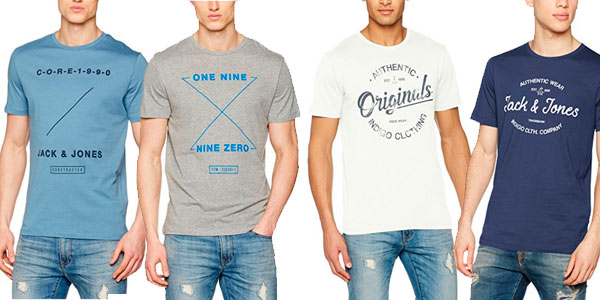 Camisetas Jack & Jones por menos de 8€ con cupón de descuento en Amazon