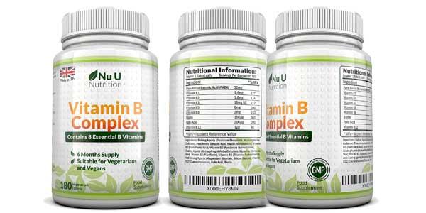 Complejo vitamina B Nu U Nutrition barato en Amazon