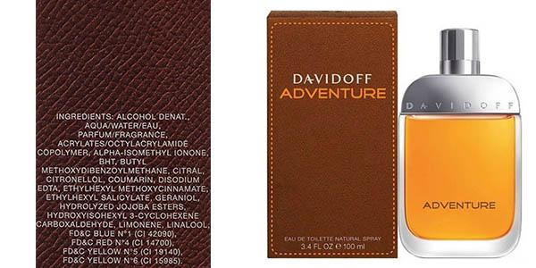 davidoff adventure eau de toilette hombre 100 ml barata