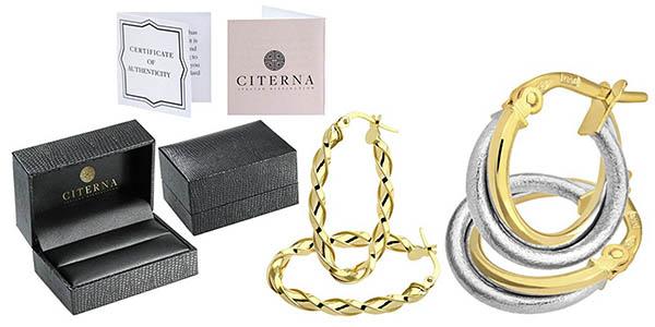 descuentos pendientes oro 9 quilates mujer