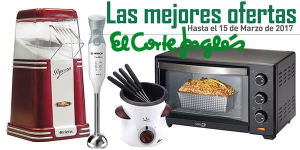 descuentos pequeño electrodoméstico El Corte Inglés marzo 2017