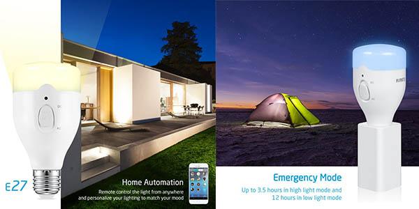 lámpara inteligente multicolor portátil App smartphone