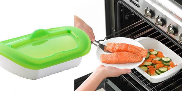 Lékué recipiente cocinar horno