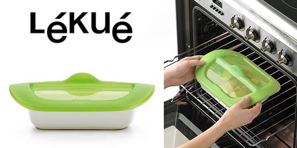 Lékué Steam & Roast recipiente cerámica tapa silicona barato
