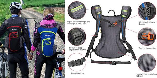 mochila hidratación ciclismo running senderismo cómoda y ligera