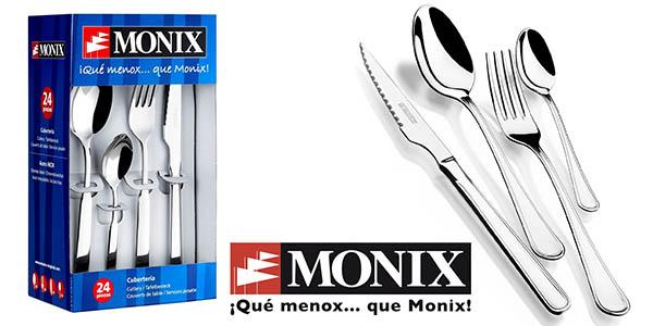 Monix Manila cubertería 24 piezas barata