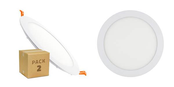 pack 2 downlight LED SMD 2835 circular 18W barato