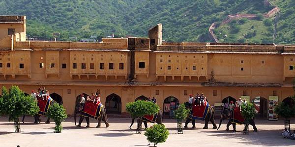paseo elefantes India Jaipur