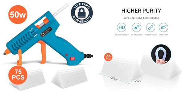 Pistola de silicona caliente Tilswall con 75 barras de pegamento en oferta
