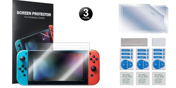 Protectores de pantalla para Nintendo Switch