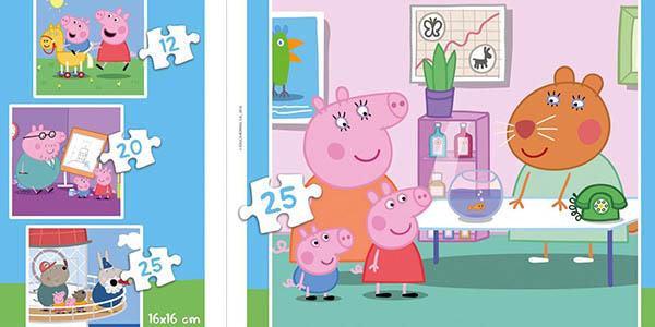 puzles Peppa Pig 3 a 5 años regalo genial