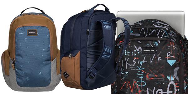 quiksilver schoolie mochila bolsillos funcional casual