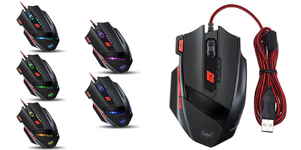 Ratón gaming Zelotes T-90 programable