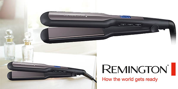 Remington S5525 Pro-Ceramic extra plancha pelo placas anchas barata